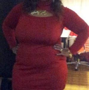 Dresses & Skirts - Red Sweater Dress